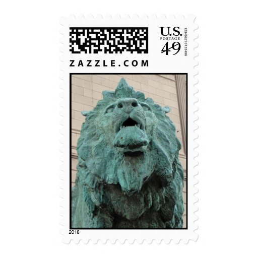 The Art Institute Lion Postage Stamps