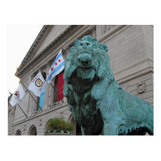 The Art Institute Lion Postcard