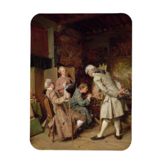 The Art Lovers, or The Painter, 1860 (panel) Rectangular Photo Magnet