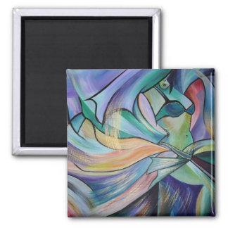 The Art of Belly Dance 2 Inch Square Magnet
