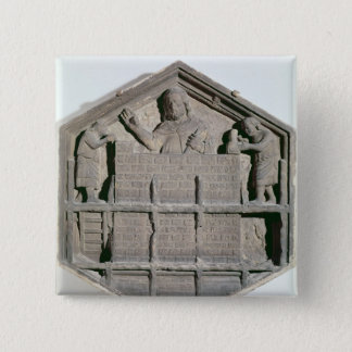 The Art of Building, hexagonal decorative relief Pinback Button