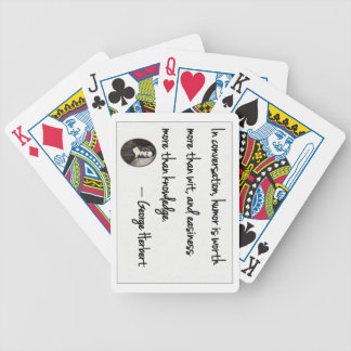 The art of conversation bicycle playing cards