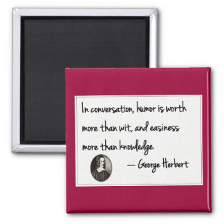 The art of conversation 2 inch square magnet