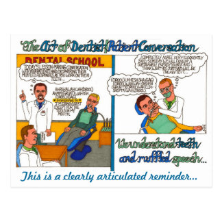 The Art of Dentist and Patient Conversations Postcard
