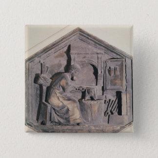 The Art of Forging, hexagonal decorative Button