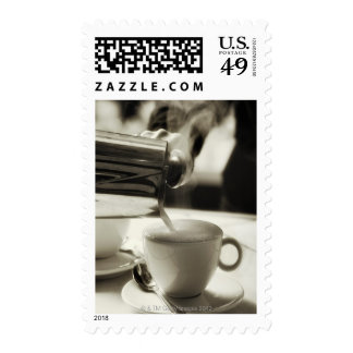 The art of fresh coffee making / adding steamed postage