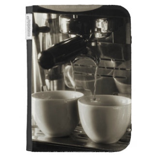 The art of fresh coffee making / pouring case for kindle