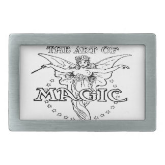 the art of magic black and white belt buckle
