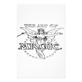 the art of magic black and white stationery