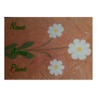 The art of marbling daisy Business Card