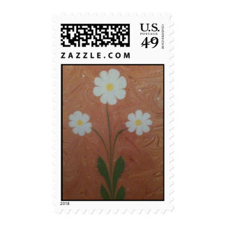 The art of marbling daisy Postage