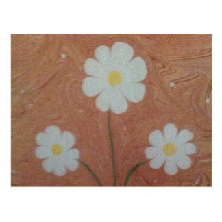 The art of marbling daisy Postcard