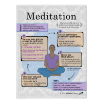 The Art of Meditation for Adults Poster