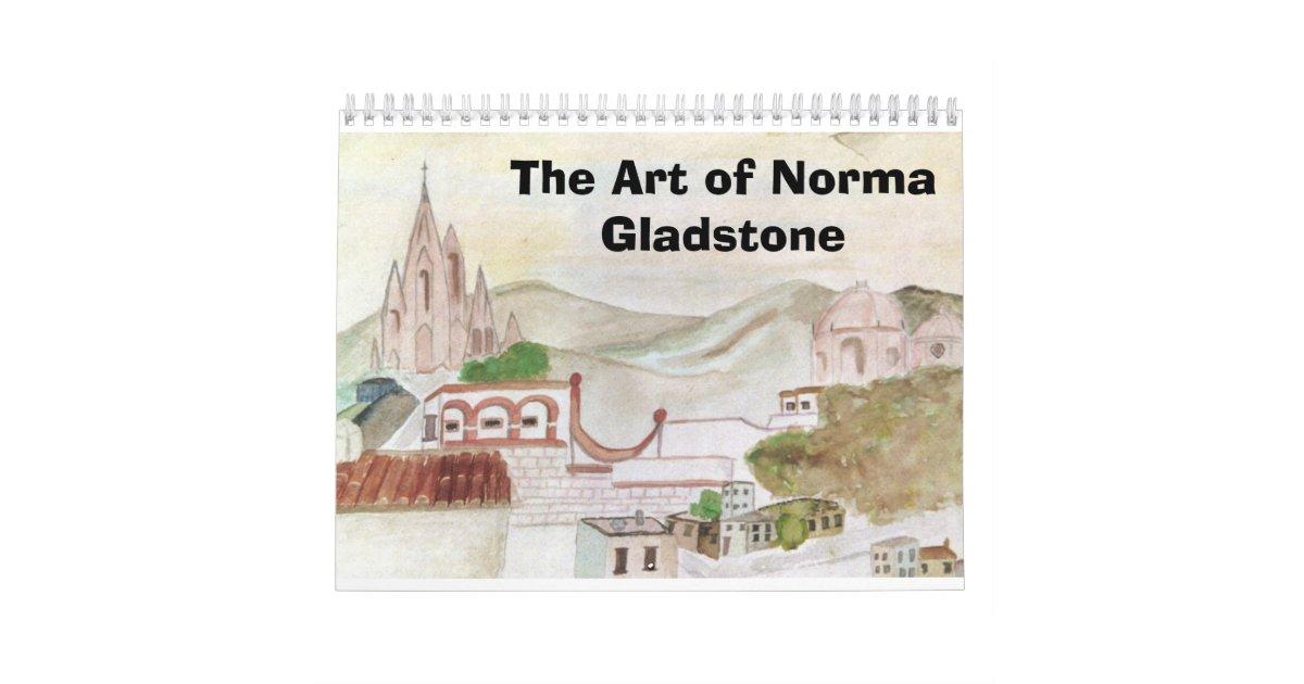 The Art Of Norma Gladstone Calendar Zazzle