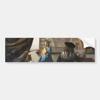 The Art of Painting by Johannes Vermeer Bumper Sticker