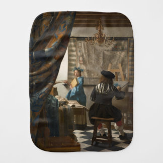 The Art of Painting by Johannes Vermeer Burp Cloth