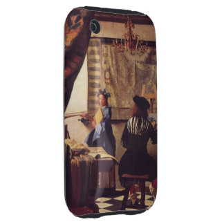 The Art of Painting by Johannes Vermeer Tough iPhone 3 Cover