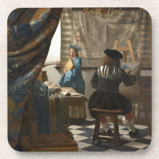 The Art of Painting by Johannes Vermeer Coaster