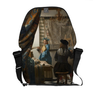The Art of Painting by Johannes Vermeer Courier Bag