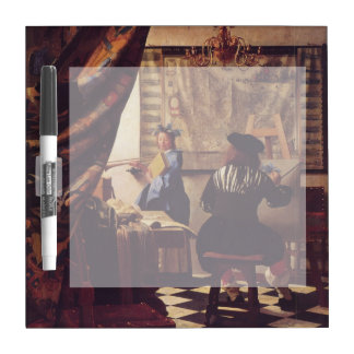 The Art of Painting by Johannes Vermeer Dry Erase Board