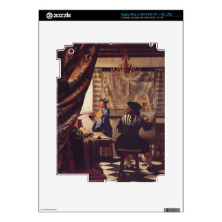 The Art of Painting by Johannes Vermeer iPad 3 Decals
