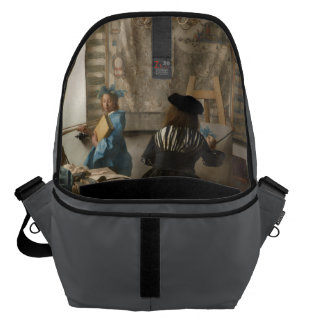 The Art of Painting by Johannes Vermeer Messenger Bag