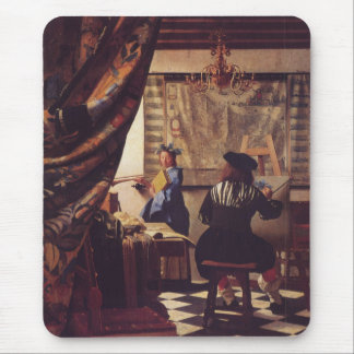 The Art of Painting by Johannes Vermeer Mouse Pad