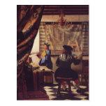 The Art of Painting by Johannes Vermeer Postcard