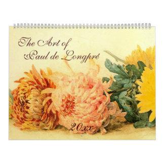 The Art of Paul de Longpré Calendar