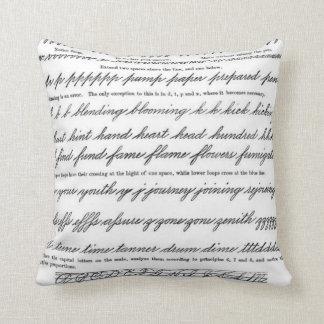 The Art of Penmanhip Throw Pillows