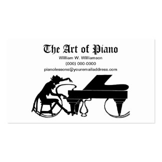 The ART of Piano - Piano Business Cards