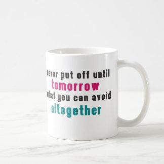 The Art of Procrastination Classic White Coffee Mug