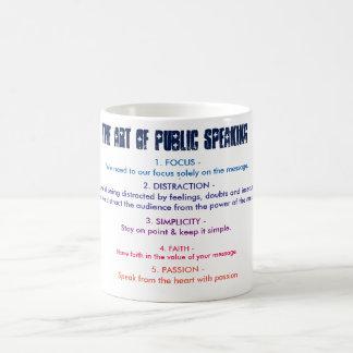 The art of public speaking - Quote Mug