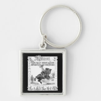 The Art of Riding Silver-Colored Square Keychain