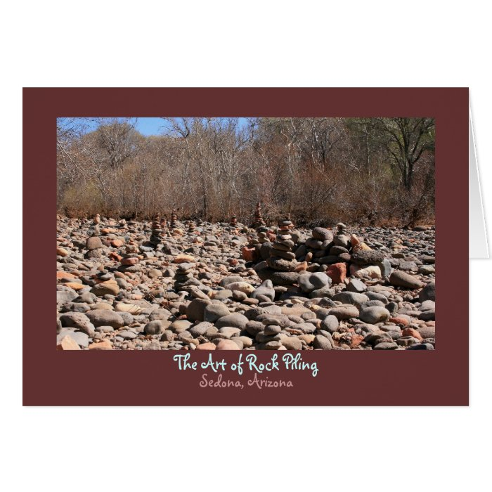 The Art of Rock Piling Card