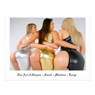 The Art of Shapes - Small Medium Large Postcard