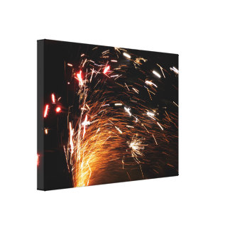 The art of sparks canvas print