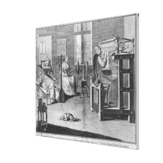 The Art of Stocking-Frame-Work-Knitting Canvas Print