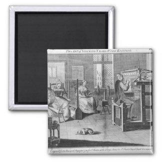 The Art of Stocking-Frame-Work-Knitting Fridge Magnet
