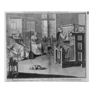 The Art of Stocking-Frame-Work-Knitting Poster