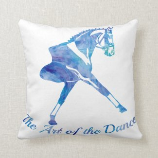 The Art of the Dance Dressage Horse - Personalize Throw Pillow