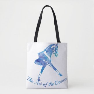 The Art of the Dance Dressage Horse - Personalize Tote Bag