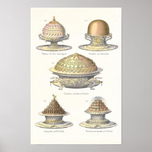 The Art of the Soufflé - Antique Vintage Pastry Print