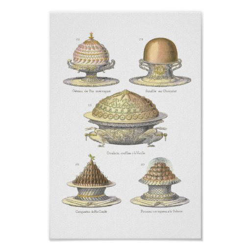 The Art of the Soufflé - Antique Vintage Pastry Poster