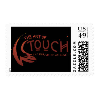 The Art of Touch logo postage stamp