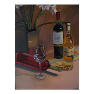The Art of Wine and Happiness Print