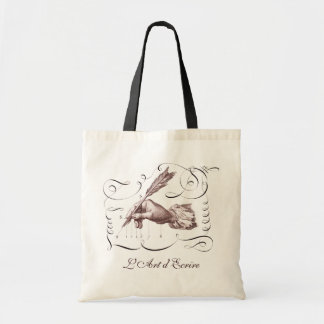 The Art of Writing - L Art d Ecrire -Calligraphy Tote Bag