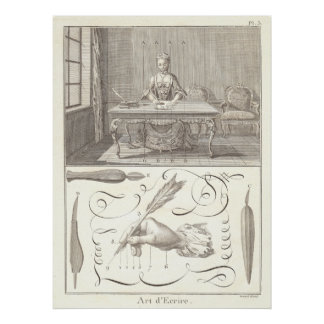 The Art of Writing - L'Art d'Ecrire - Diderot 1765 Poster