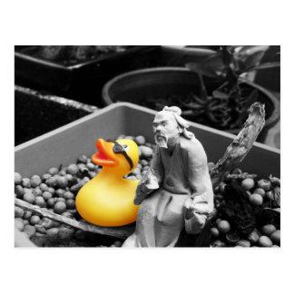 'The Art of Zen' Rubber Duck Postcard