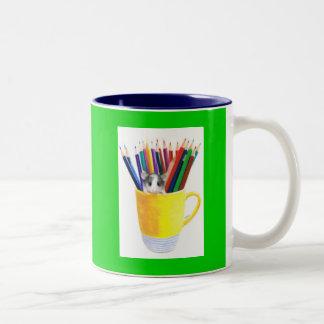The Art Student Two-Tone Coffee Mug